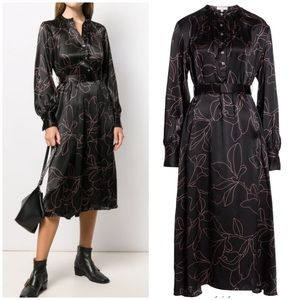 NEW Equipment Alowette silk belted dress